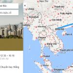 Bản đồ đường bay từ Hà Nội đi Đài Bắc, Đài Loan