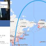 Bản đồ đường bay chặng HCM - Toronto, Canada