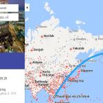 Bản đồ đường bay chặng HCM - Vancouver, Canada
