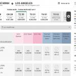 Hành trình Hồ Chí Minh - Los Angeles giá rẻ