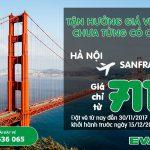 Eva Air KM vé khứ hồi chỉ từ 711 USD!