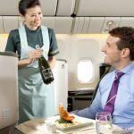 Sử dụng đồ uống có cồn trên chuyến bay Eva Air