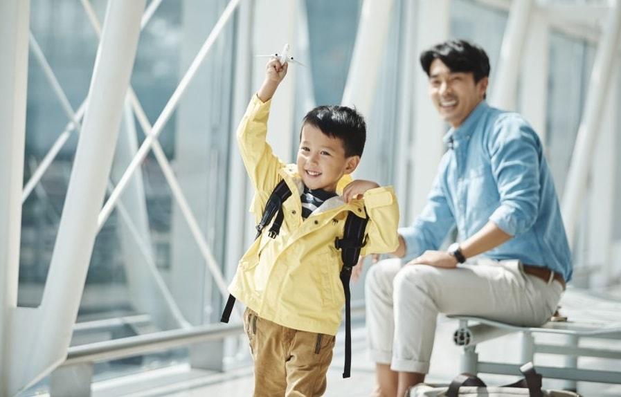 Trẻ em đi máy bay - Eva Air