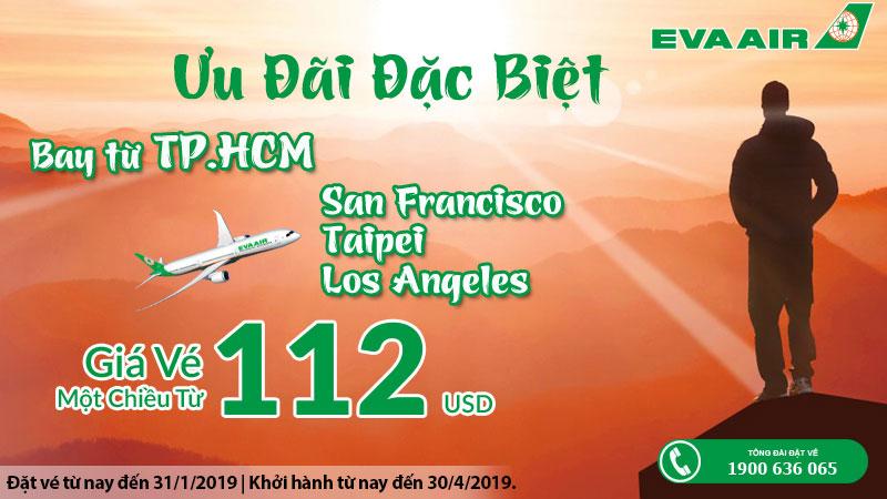 Khuyến mãi đặc biệt vé máy bay chỉ 112 USD khám phá thế giới