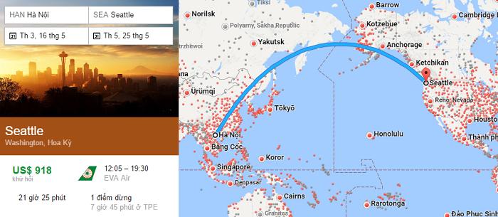 Tham khảo hành trình bay Hà Nội đi Seattle