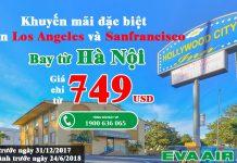 Eva Air KM vé máy bay đi Mỹ giá rẻ từ Hà Nội VN