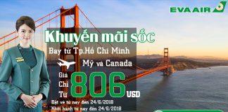 Eva Air khuyến mãi vé khứ hồi chỉ từ 806 USD