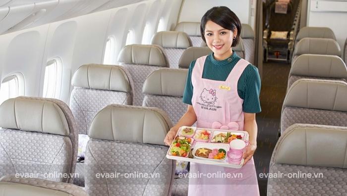 Suất ăn trên máy bay Eva Air